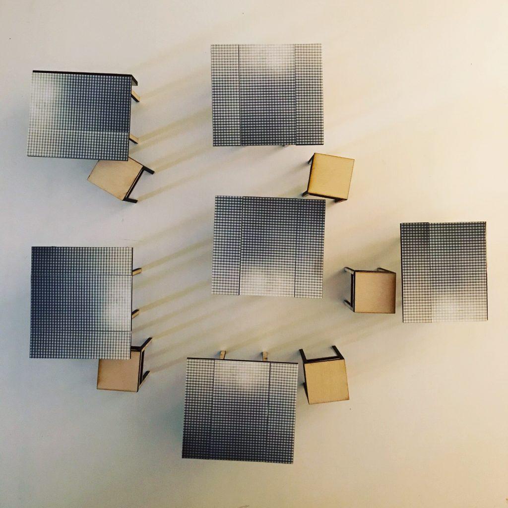 gingham tables - Jan Hopkins